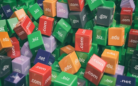 3 D rendering - colourful domain extensions using cubes