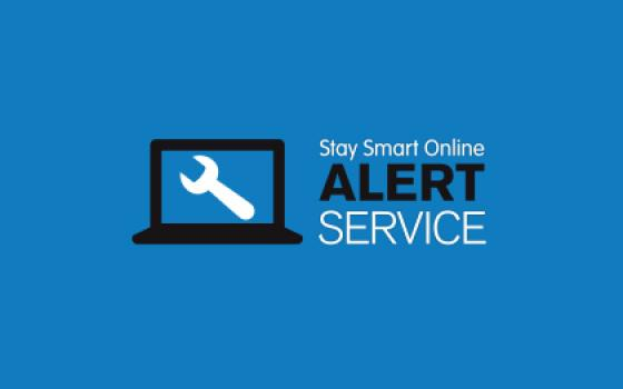 stay safe online alert service logo - square box containing a spanner