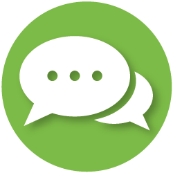 icon with speech bubbles