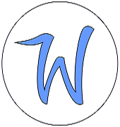 Large letter W enclosed in a circle - logo for digital news company The Whip
